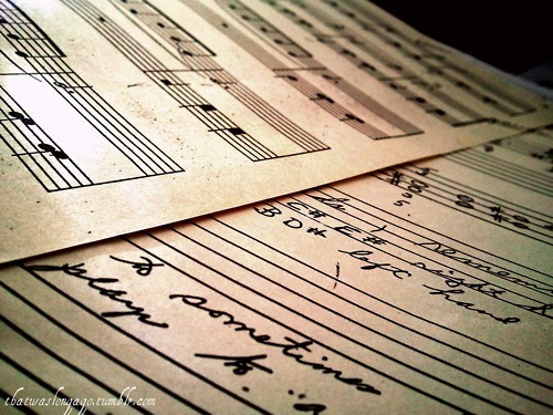 music, music notes, music sheet, vintage