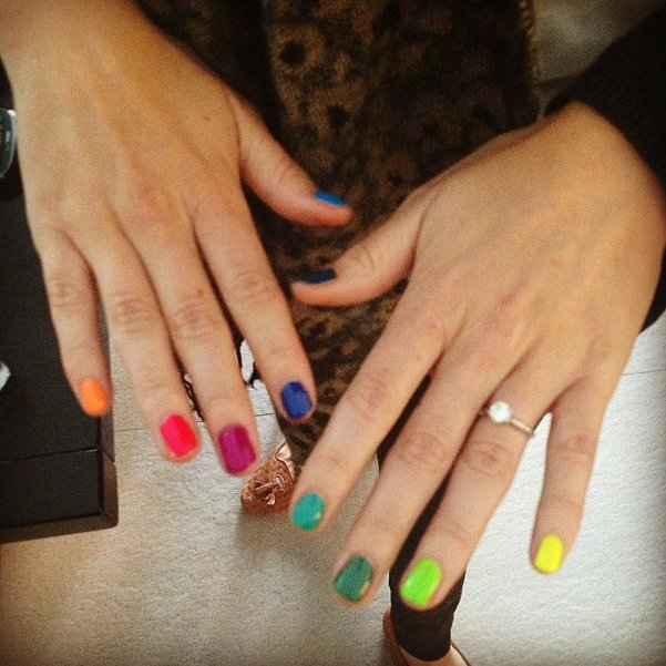 nailpolish, nails, rainbow