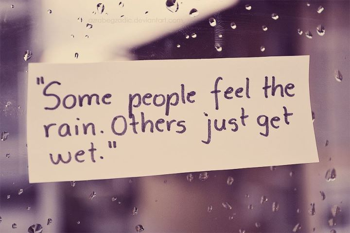 people, quote, rain, wet