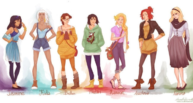 #princess, anastasia, aurora, belle, fashion
